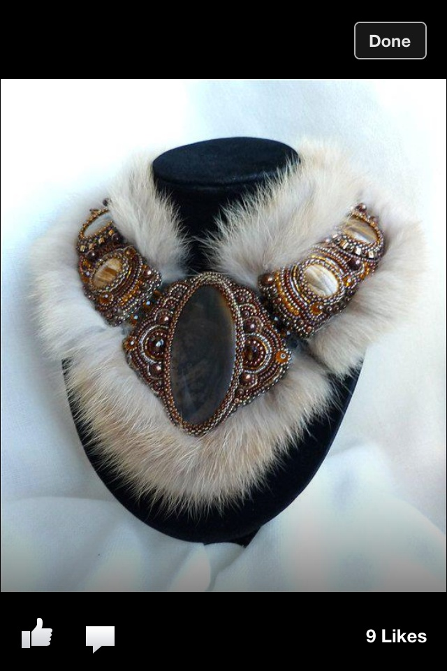 Fur necklace