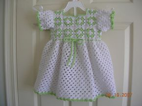 Free Crochet Granny Yoke Baby Dress Pattern