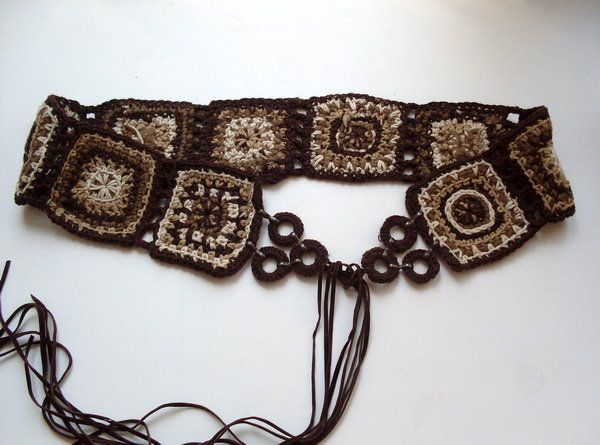 Handmade crochet belt