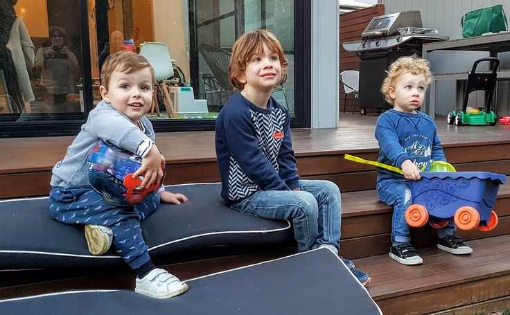 Cillian and Lorcan hanging out with cousin Hunter