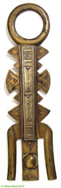 Tuareg metal Veil (Assrou n'swoul) Aleación de cobre / Mali, Siglo 20, África