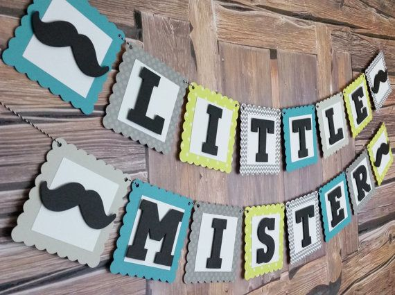Little Mister Mustache Banner Little Mister Sign by HappyBanners
