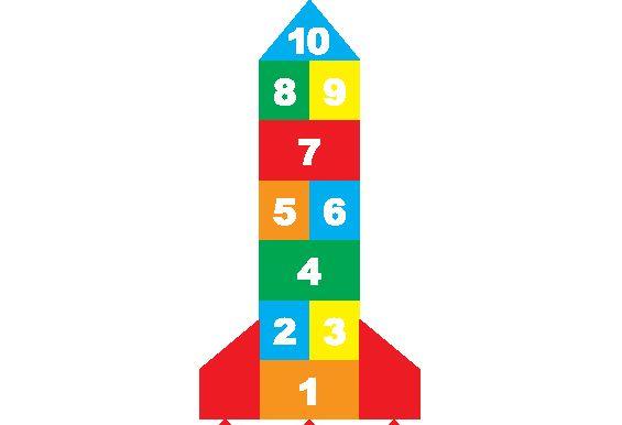 School Playground Rocket Hopscotch | Rocket Hopscotch Plastic Playground Markings Suppliers UK