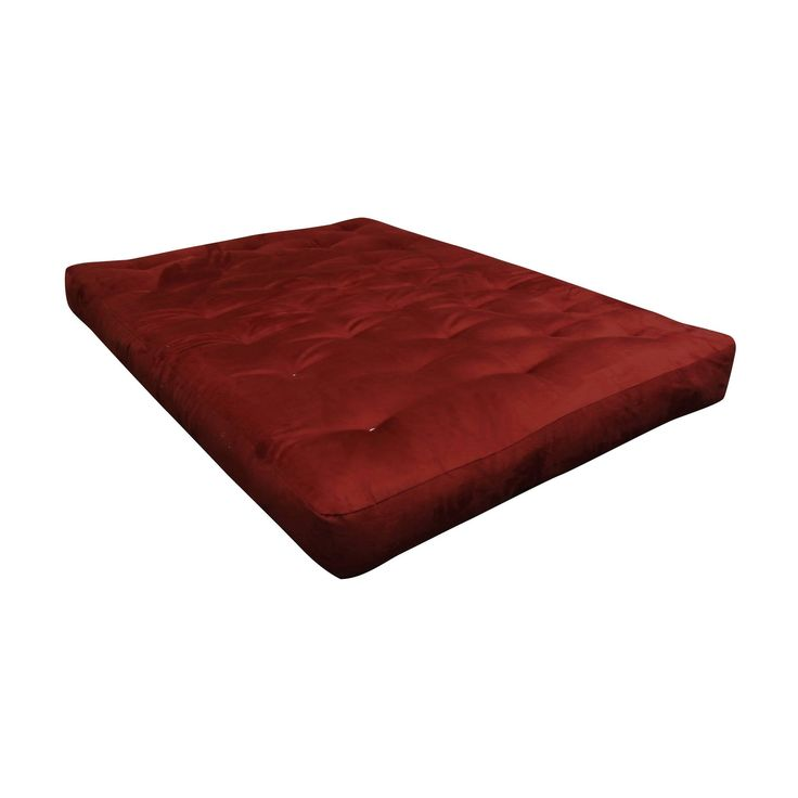 Moonlight Burgundy (Red) Microfiber 9-inch Twin Loveseat Futon Mattress (Burgundy - Polyester/Foam/Cotton - Foam - Chair - 9 Inch)
