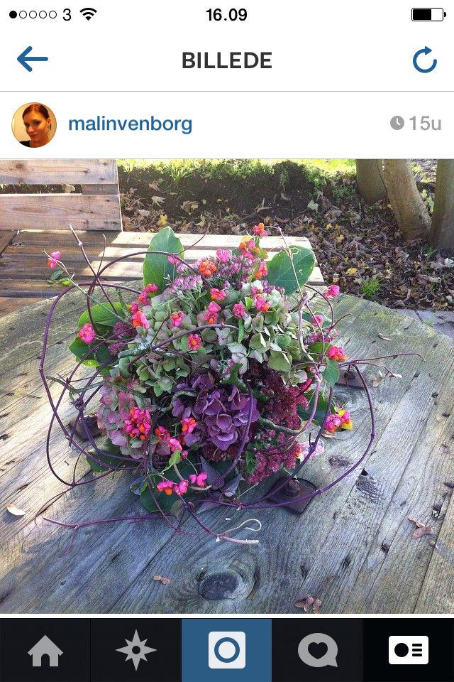 Bukett bunden av trädgårdens blommor