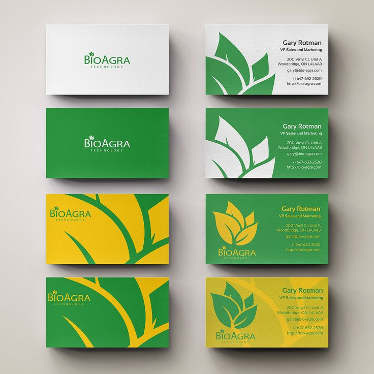 BioAgra Technologies Business Card Design Concepts