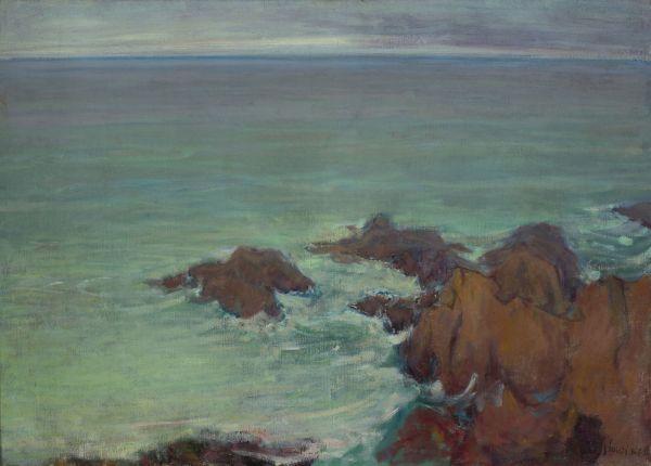 Morze w Bretanii - Władysław Ślewiński