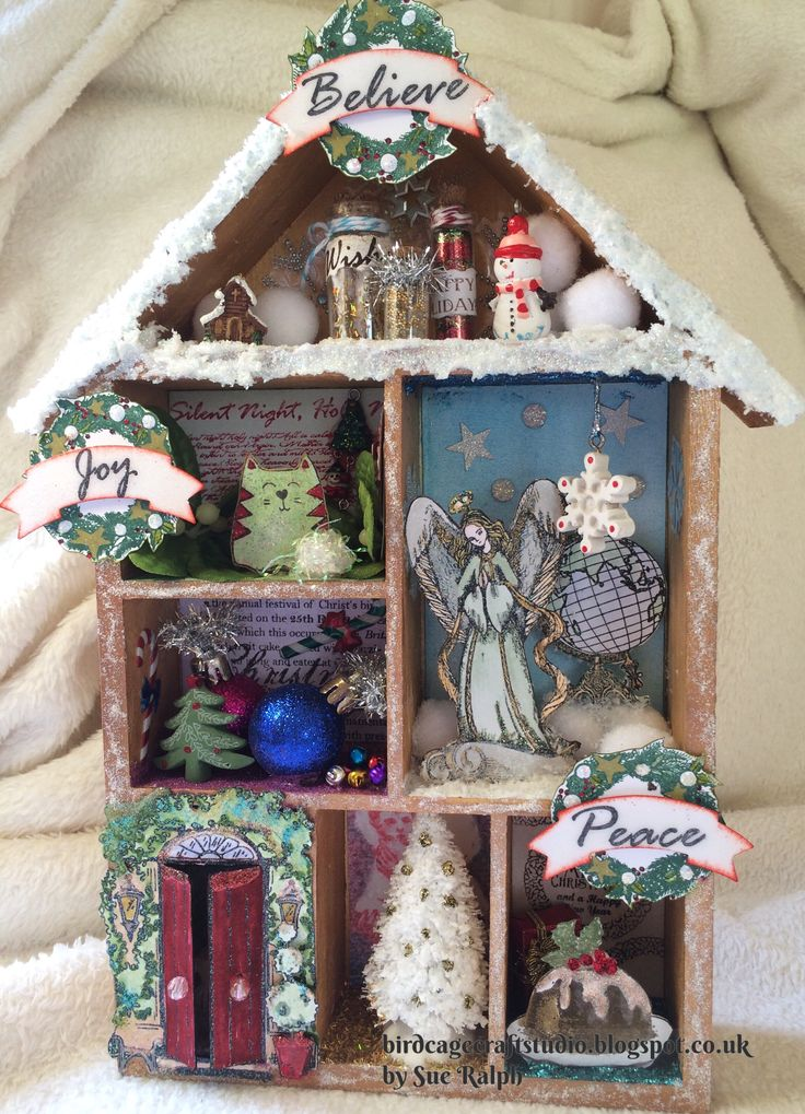 Christmas Shadow Box created for IndigoBlu by Sue Ralph