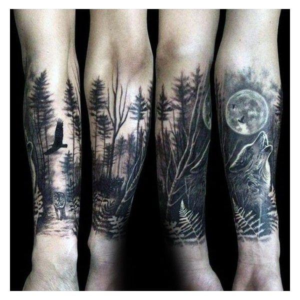 sleeve tattoo wald