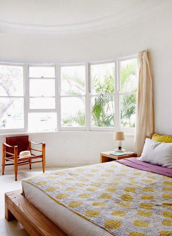 bedroom styling.. windows