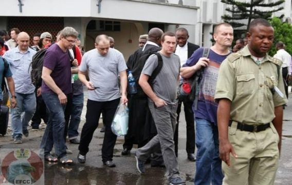 Breaking News: See Photos Of The 14 Foreigners Arrested For Oil B...