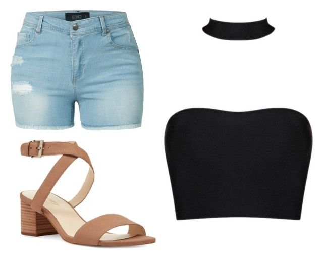 """look12"" by lucianatorrez on Polyvore featuring beauty, LE3NO and Nine West"