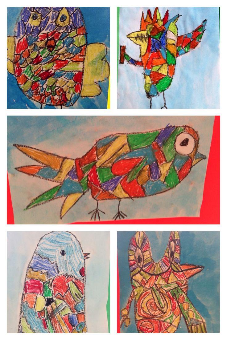 'Blije Corneille vogels' Groep 5