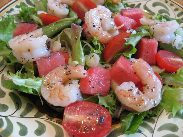 Now Things are Cookin'Watermelon Shrimp Salad - Recipe