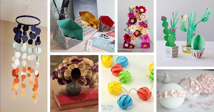 27 Spaß und buntes Papierdekor-Handwerk, das Sie an einem Nachmittag machen können Haus dekorationsideen