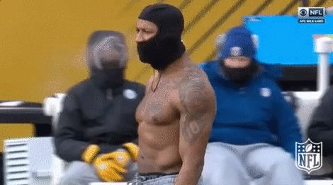 New party member! Tags: football nfl steelers pittsburgh steelers feeling myself feeling it too sexy for my shirt ryan shazier no feeling shazier not cold never cold warm blooded cant feel anything warmblooded