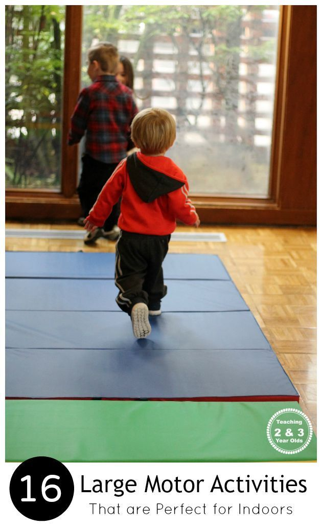 This collection of gross motor activities are perfect for indoors. You will want this list handy when your toddlers and preschoolers have lots of energy and you need to keep their bodies busy! Teaching 2 and 3 Year Olds