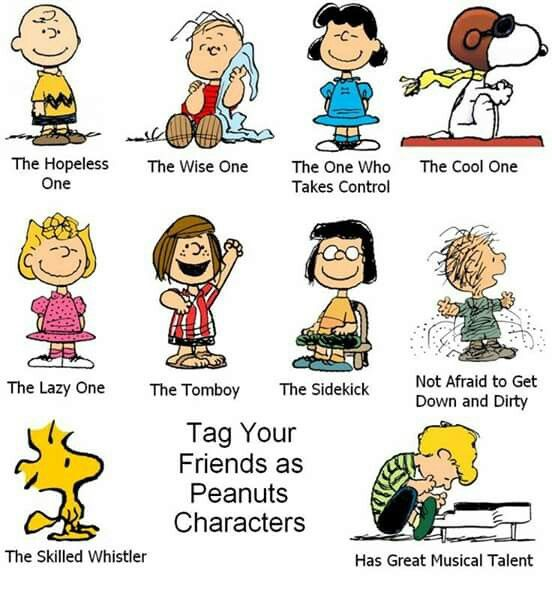 Tag Your Friends as Peanuts Characters