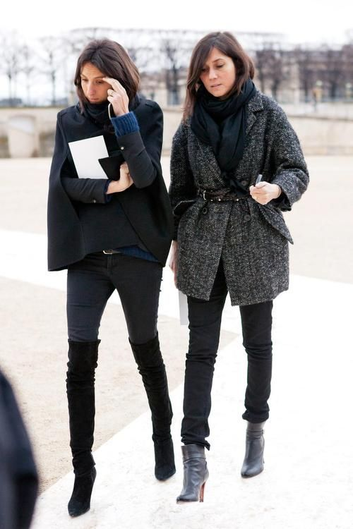 la-modella-mafia-Emmanuelle-Alt-and-Geraldine-Saglio-of-Vogue-Paris-Fashion-Editor-street-style-11