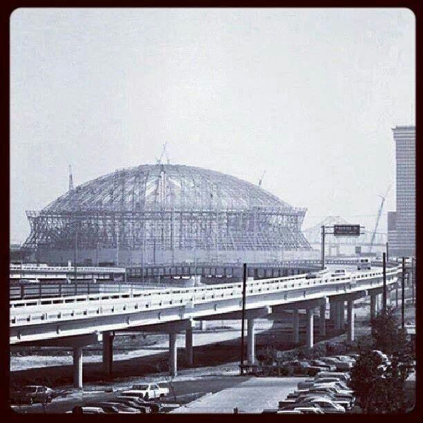New Orleans Superdome construction began August 11, 1971