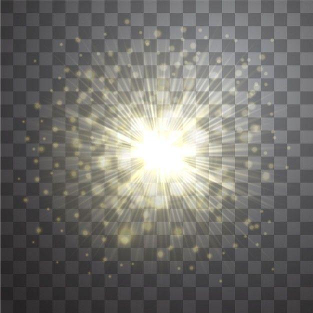 Efeito do vetor da lente de ouro clarões sunburst no fundo transparente | Baixar vetores grátis