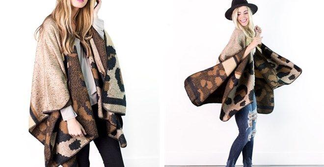 Leopard Print Winter Kimono!