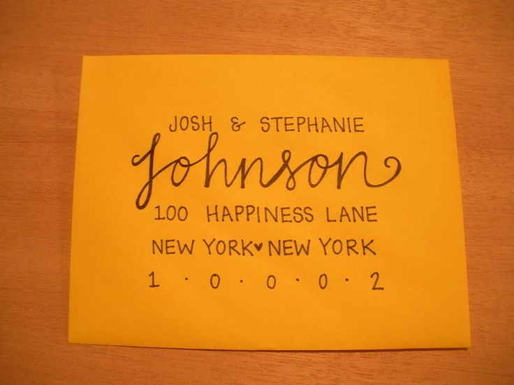 Custom Wedding Envelopes- Lettering/Modern Calligraphy. $1.75, via Etsy.