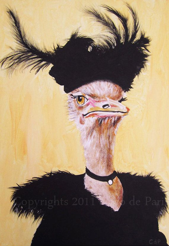 #Ostrich  #Art      🌻 For more great pins go to @KaseyBelleFox