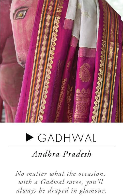 Handloom sarees are lifetime possessions.When it comes to everyday wear, take your pick from attractive cotton sarees like Mangalgiri, Sambalpuri or a Madurai. Simple yet elegant, these sarees are lightweight and comfortable. While Ilkal sarees are subtle, simple and delicately intricate, Kosa sarees depict stories from mythological and historical times. If u r looking to buy an iconic South Indian saree,Kerala Kasavu which is classy, graceful and simple is a great choice.