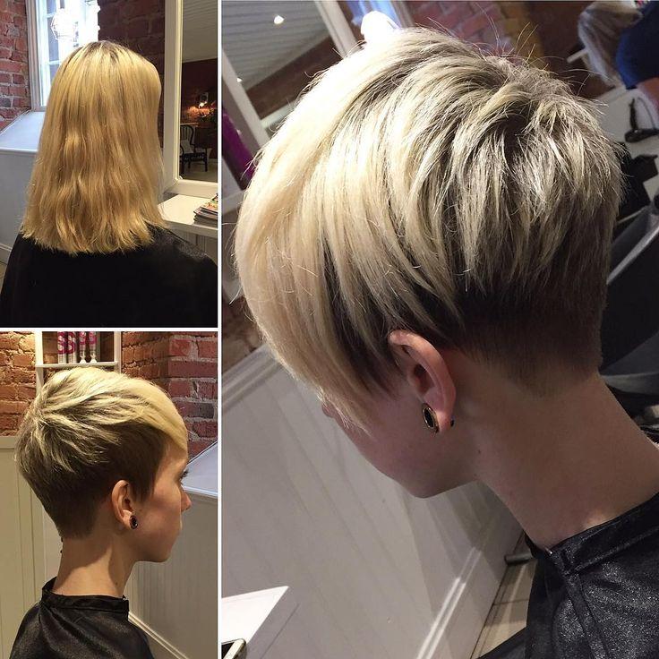 """295 Likes, 4 Comments - Milouhair (@milouhair) on Instagram: """"Från långt hår till kort!😊 #föreochefter #beforeandafter #pixiecut #undercut #shorthair #hair…"""""""