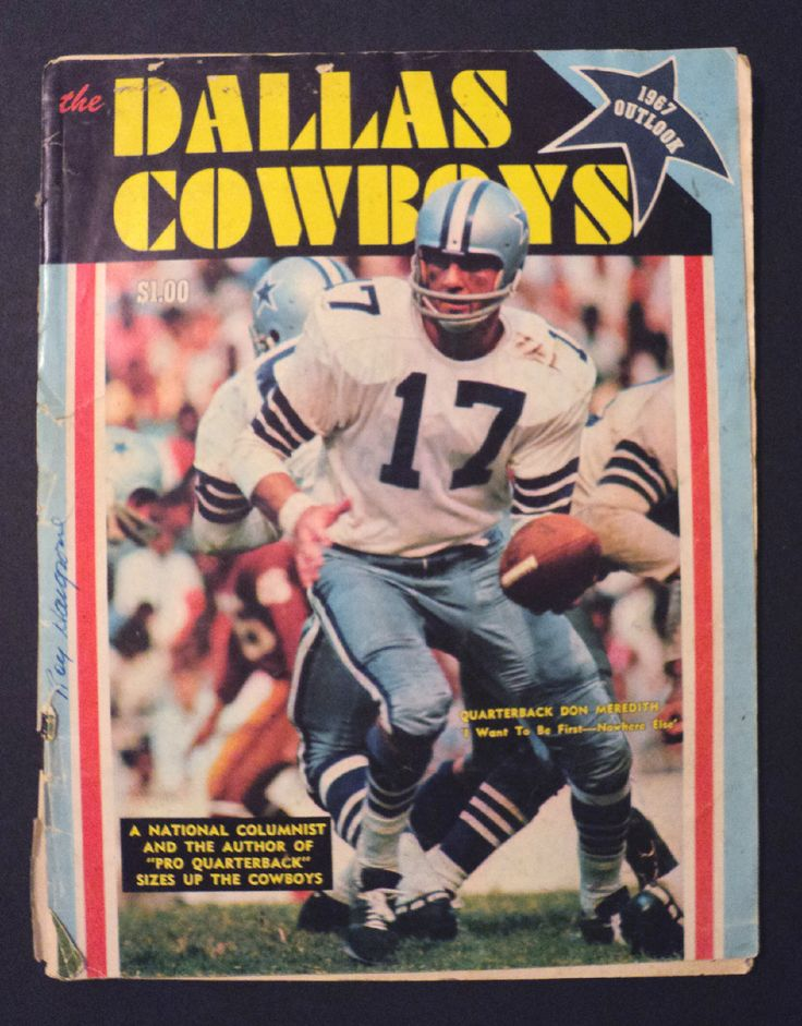 Vintage 1967 NFL Dallas Cowboys Outlook Magazine - Landry, Meredith - LQQK!!!