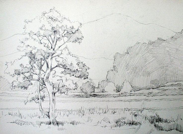 <기초 풍경수채화> 나무가 있는 풍경 - 수채화 과정 : 네이버 블로그
