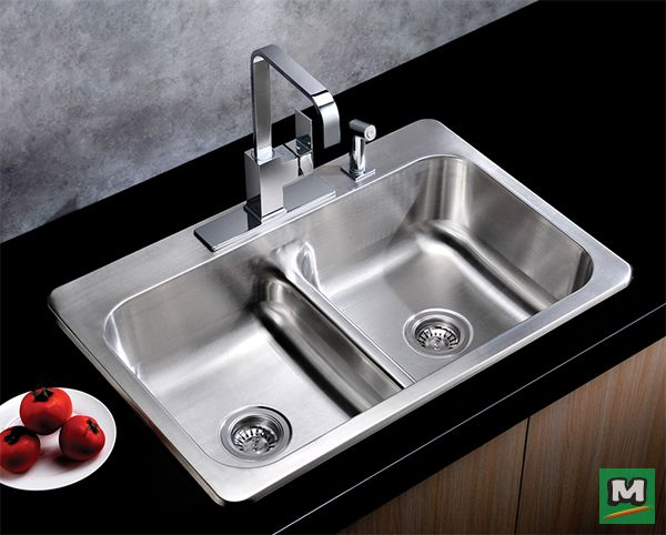 Need More Sink Space? Then, Try This Tuscany® Low Divide Double