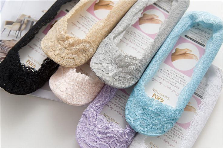 10 pieces= 5 pairs of  Spring and summer new Japanese silicone lace female lingerie socks