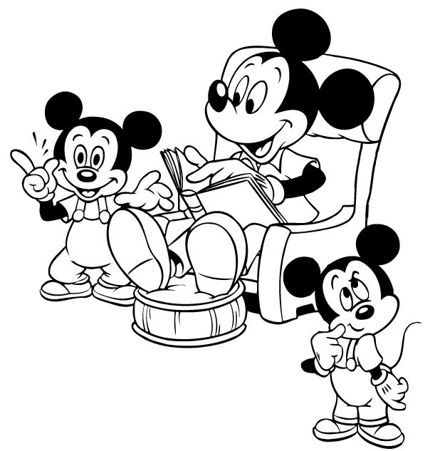 Mikke Mus Fargelegging for barn. Tegninger for utskrift og fargelegging nº 47