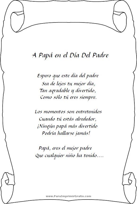 Poemas para el Día del Padre