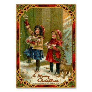 vintage Christmas business card