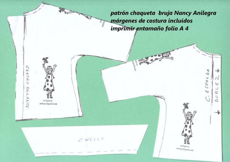 ANILEGRA COSE PARA NANCY: Tutorial y patrones chaqueta Nancy bruja 2015
