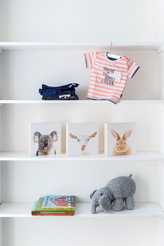 Elegant Auf der Suche nach Deko f rs Kinderzimmer ArtyAnimals sind auch erh ltlich auf einem Holzblock