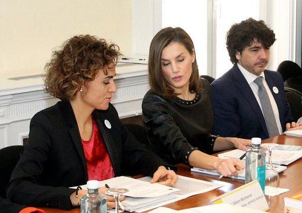 Queen Letizia attended a meeting on gender-based violence