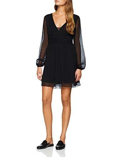 eeed67e6a0e4 Guess Abito Florina Dress Vestito Donna Nero (Jet Black A996 Jblk) Medium  (Taglia