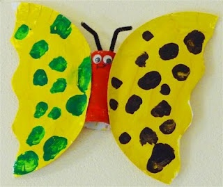 Simple paper plate butterfly