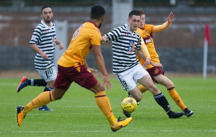 Queen's Park's Thomas Orr in action during the IRN-BRU Cup Round 1 game between Motherwell 20s and Queen's Park.