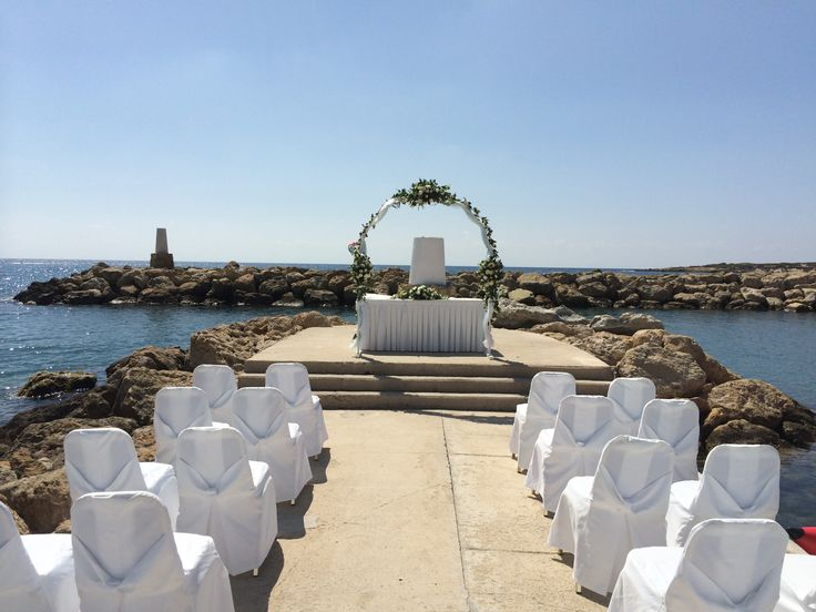 The Pier our exclusive wedding venue at the Coral Beach Hotel in Paphos Cyprus by www.cyprusdreamweddings.com