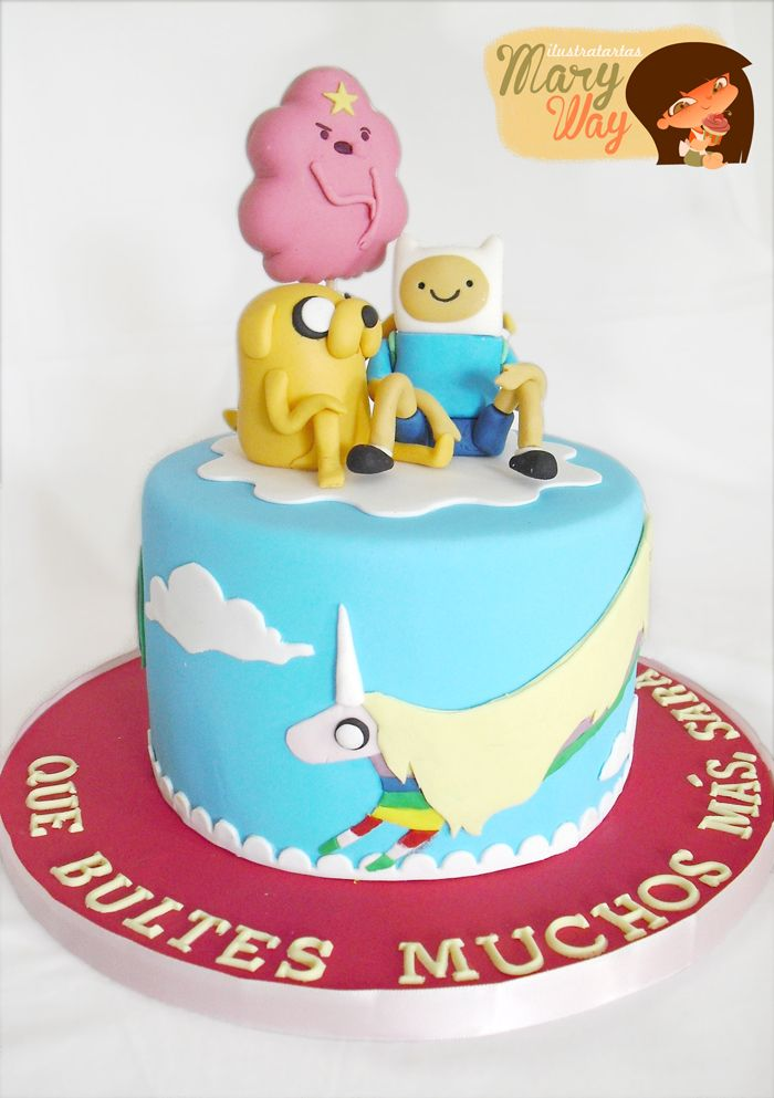 MaryWay Ilustratartas: Adventure Time. Gluten-free cake.