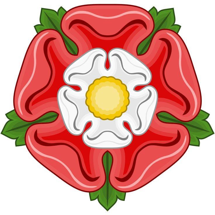 A Rosa de Tudor, uma junção da rosa vermelha e branca das casas reais Lencastre e Iorque respectivamente.
