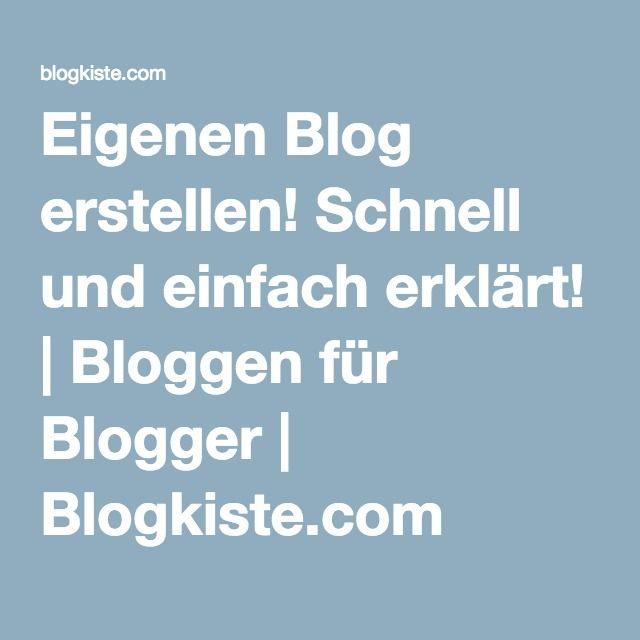 Eigenen Blog erstellen! Schnell und einfach erklärt! | Bloggen für Blogger | Blogkiste.com
