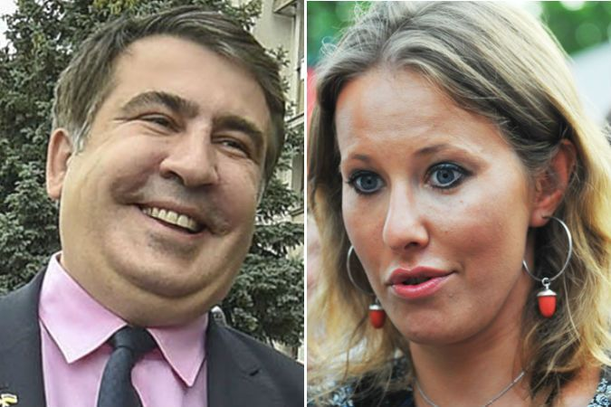 Ксения Собчак приехала в гости к Саакашвили