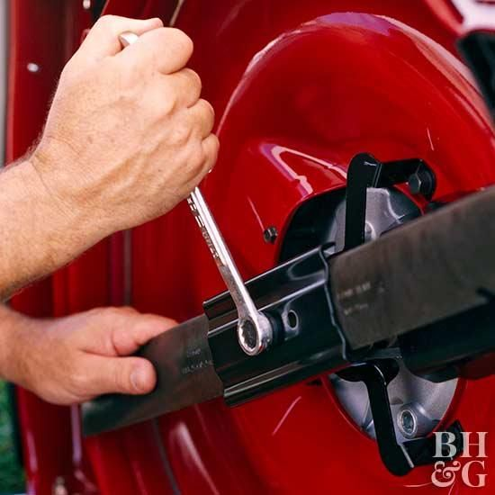 The Proper Way to Sharpen a Mower Blade | lawnmowers | Lawn