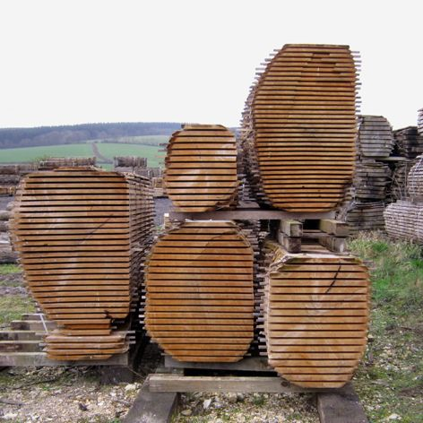 Air Dried Waney Edge Boards - English Woodlands Timber